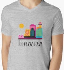 Vancouver Coal Harbour Men's V-Neck T-Shirt