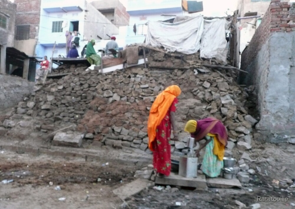 Saris in the Rubbles by Ratatouille