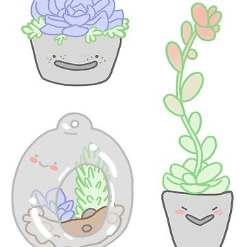 Succulent Babies Sticker Set by geothebio