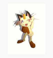 Meowth That's Right! Art Print