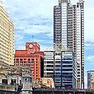 Chicago IL - Water Taxi Passing Under Lyric Opera Bridge by Susan Savad