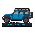 Blue Jeep Wrangler by BluAnchor