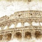The Colosseum Rome - Digital Art by Ann Garrett