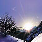 Winter landscape (II) by CatchyLittleArt