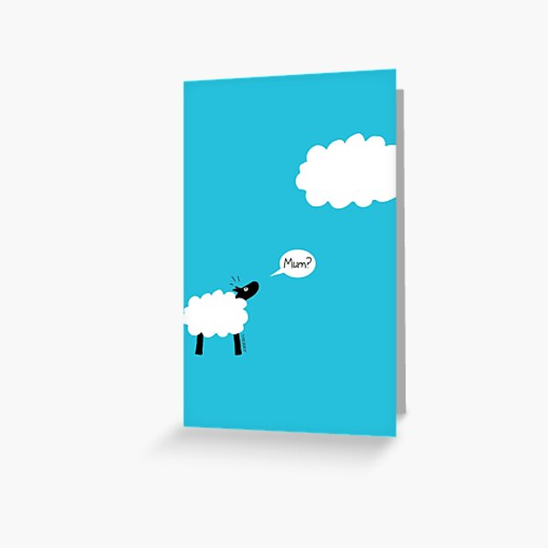Sheep Cloud Greeting Card