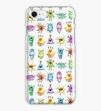 Little Watercolor Monsters iPhone Case/Skin