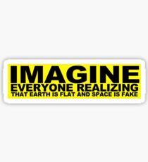 Flat Earth Designs - IMAGINE Sticker