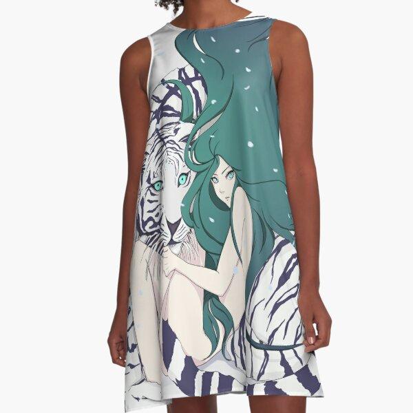 Frosty Goddess  A-Line Dress