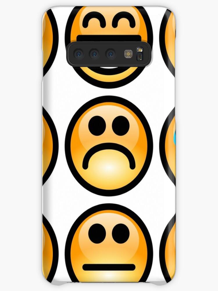 Emoji Emoticon Hüllen Klebefolien Für Samsung Galaxy Von Edleon