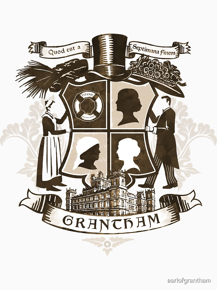 Grantham coat of arms (sepia) | Unisex T-Shirt