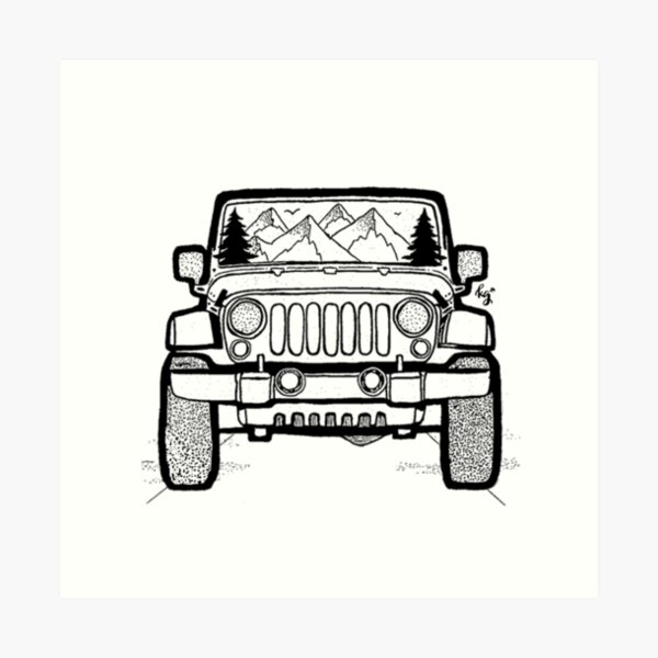 Jeep Adventure Art Print