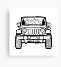 Jeep Adventure Canvas Print