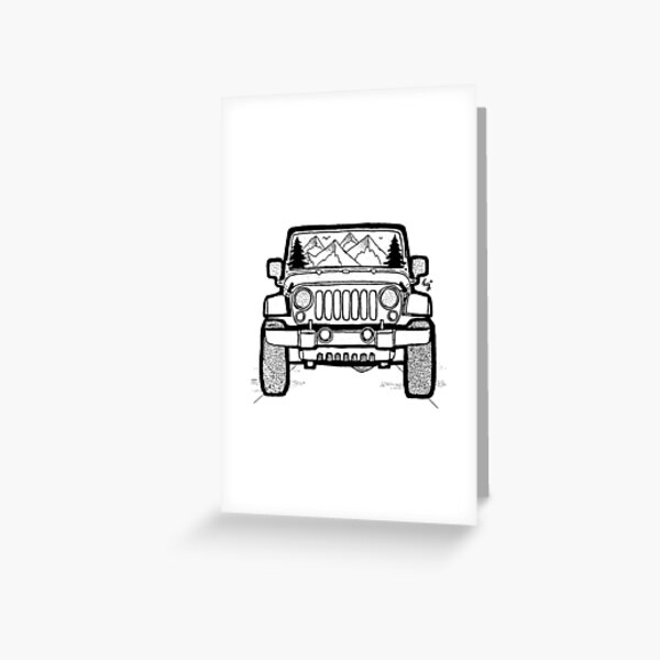 Jeep Adventure Greeting Card