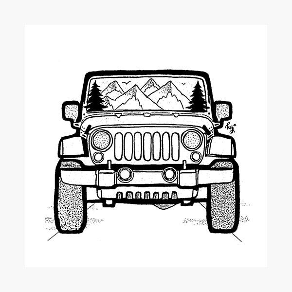 Jeep Adventure Photographic Print