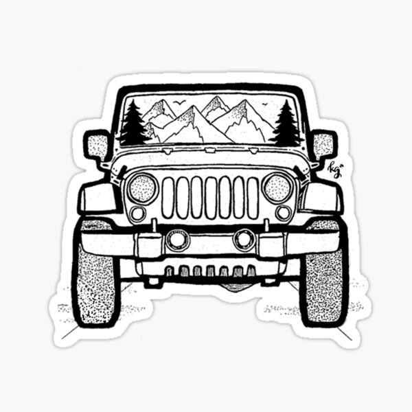 Jeep Adventure Sticker