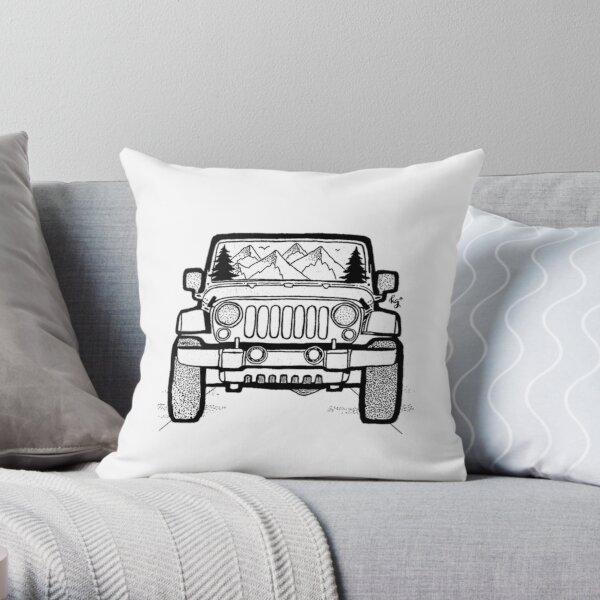 Jeep Adventure Throw Pillow