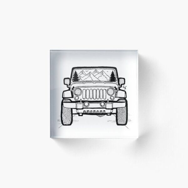 Jeep Adventure Acrylic Block