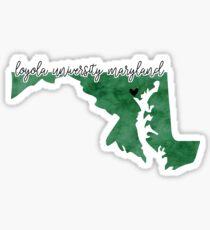 Loyola University Maryland Sticker