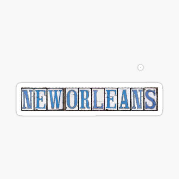 New Orleans- Street Tiles Sticker
