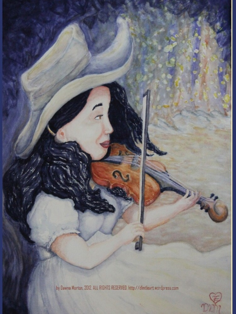 Woman's Autumnal Twilight Serenade by DlmtleArt