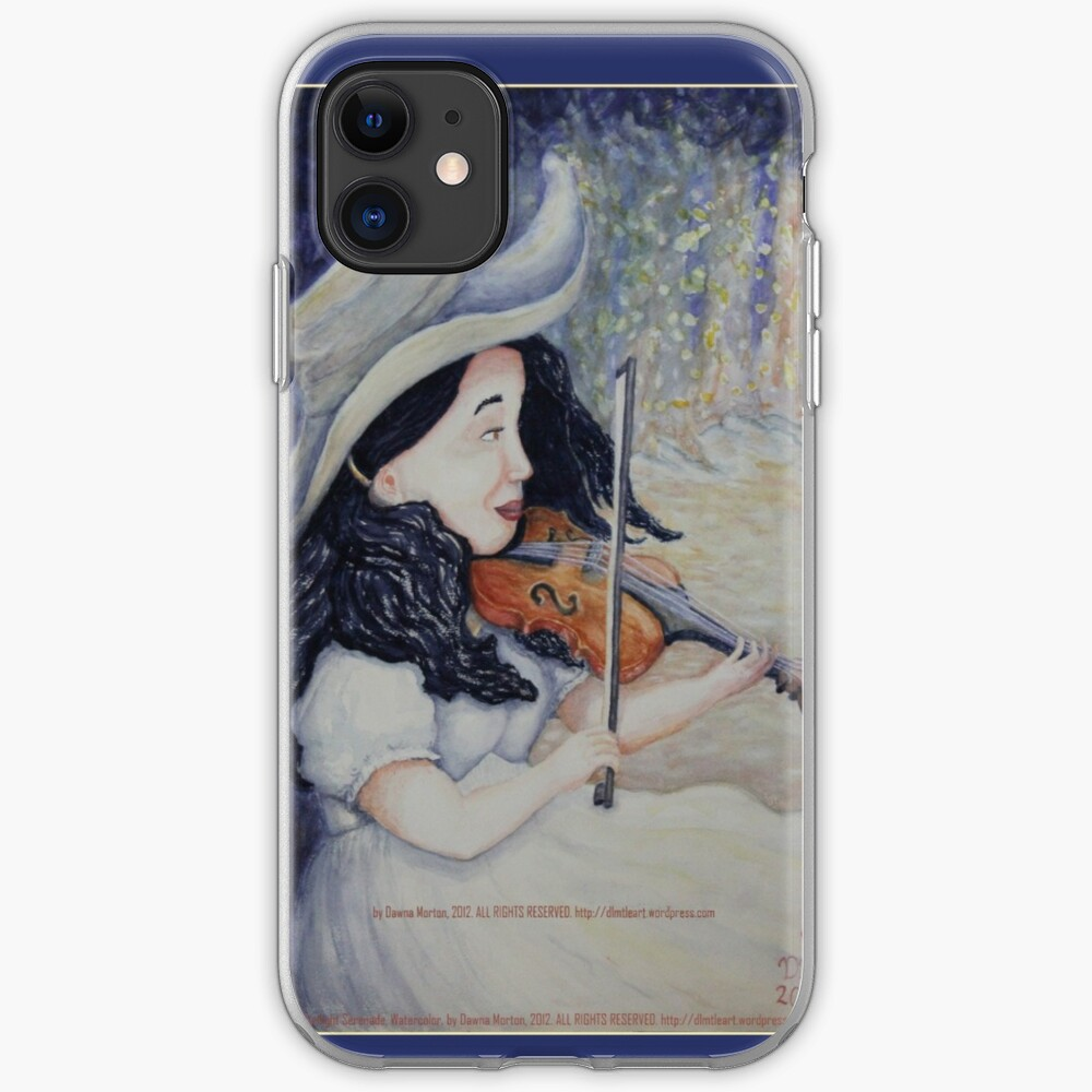Woman's Autumnal Twilight Serenade iPhone Case & Cover