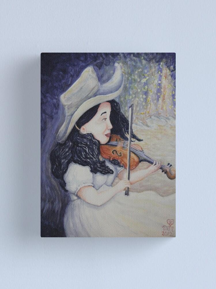 Alternate view of Woman's Autumnal Twilight Serenade Canvas Print