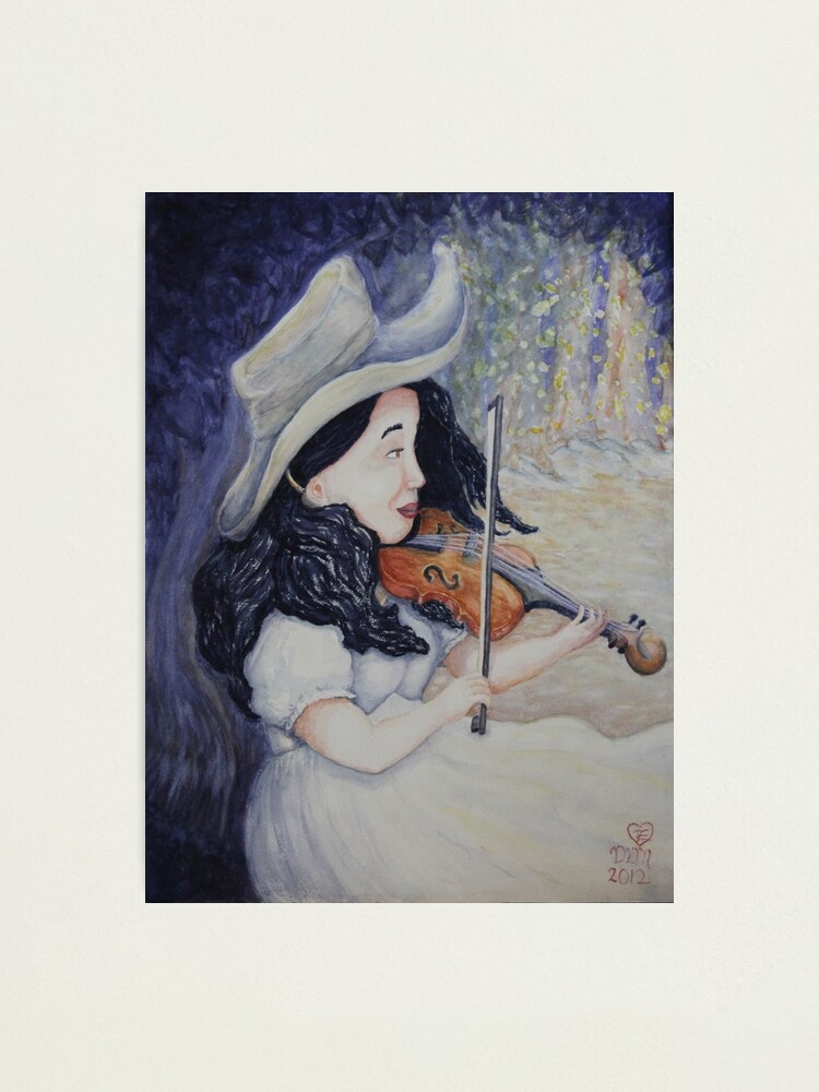 Alternate view of Woman's Autumnal Twilight Serenade Photographic Print
