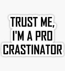 Trust Me Pro Procrastinator Sticker