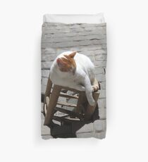 Chat faineant Duvet Cover