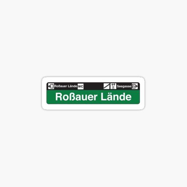 Roßauer Lände Ubahn Stop Vienna Sticker