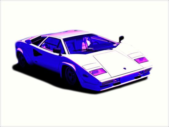 Lamborghini Countach Art Print By Momusell04 Redbubble