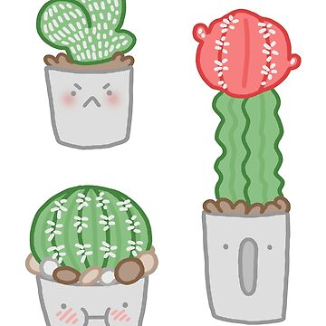 Cute Cacti Sticker Set by geothebio