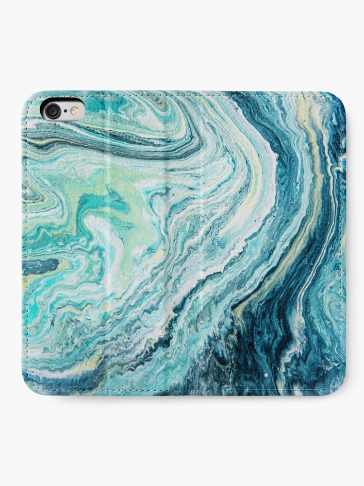 Alternate view of Colour Spill - Ocean Topography iPhone Wallet