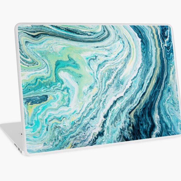 Colour Spill - Ocean Topography Laptop Skin