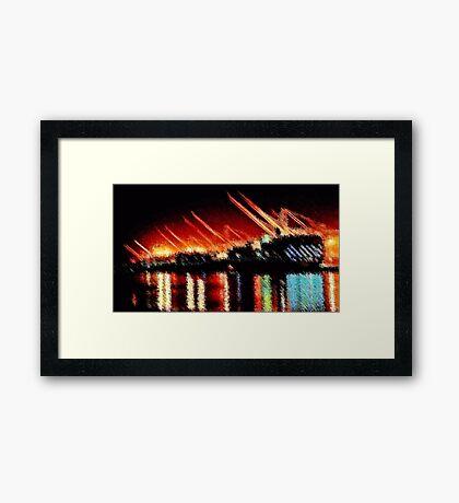 Harbor Lights Framed Print