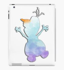 Blue and purple watercolor snowman iPad Case/Skin