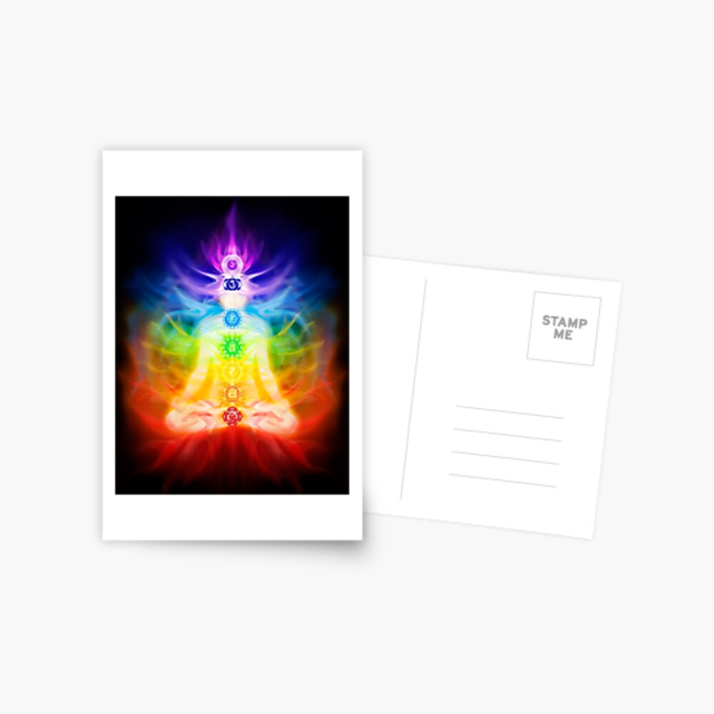 Chakras And Energy Flow On Human Body Art Photo Print Greeting Card By Artnudephotos Redbubble