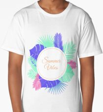 Summer Vibes Neon Tee Long T-Shirt