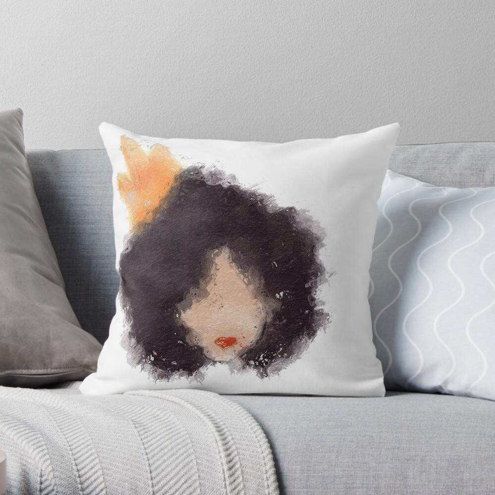 Royal Afro Throw Pillow
