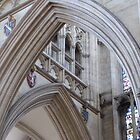 Arches inside York Cathedral by Tony Blakie