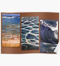 Beach triptych Poster