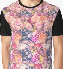 Abstract flowers colorful texture Graphic T-Shirt