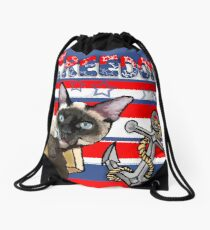 Freedom - The Lucky Cat Drawstring Bag