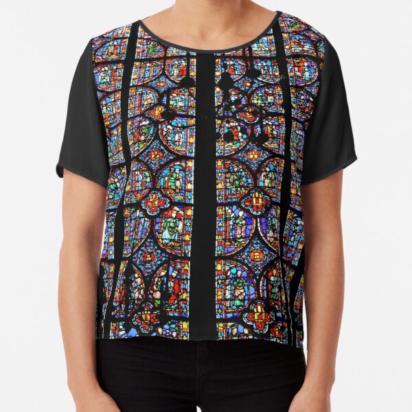 Stained  Chiffon Top