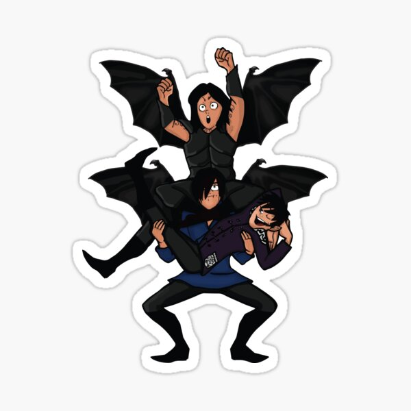 A Court of Mist and Fury, Cassian, Azriel and Rhysand Sticker