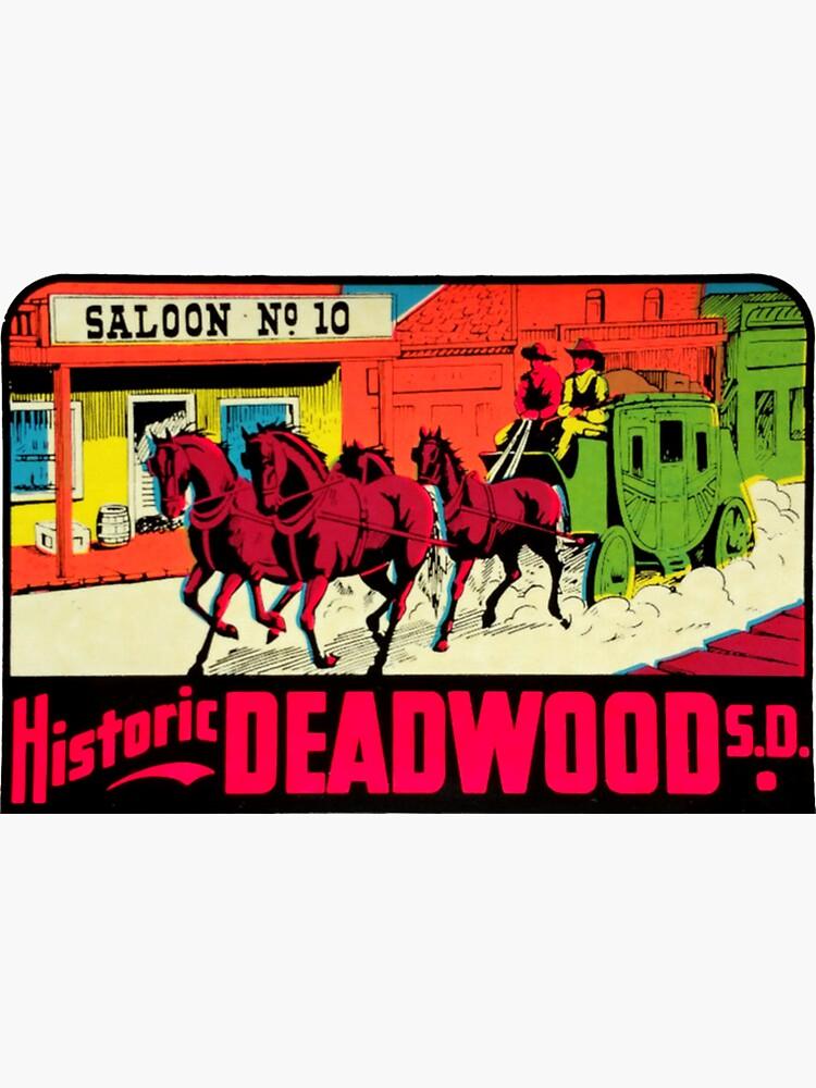 Deadwood South Dakota Vintage Travel Decal by hilda74