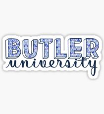 Butler University - Dreiecke Muster Sticker