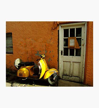 Vespa At The Door Photographic Print