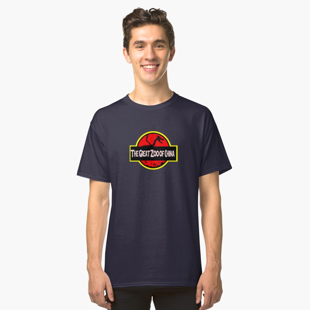 The Great Zoo of China logo(JP Parody) Classic T-Shirt Front