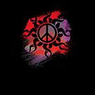 Cool Peace Sign with Paint by Denis Marsili